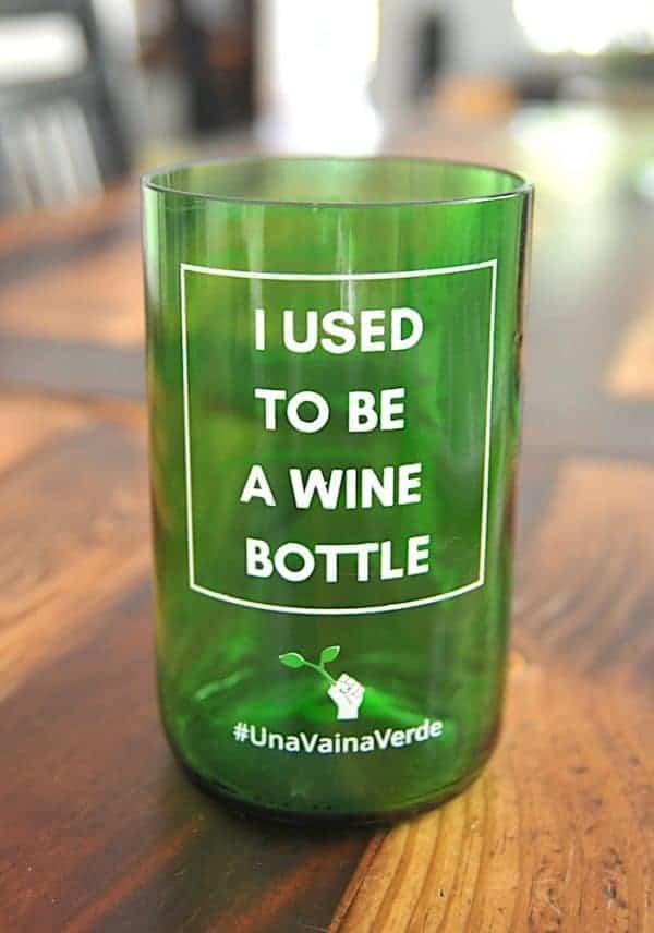 Una Vaina Verde - Vaso de Botella de Vino