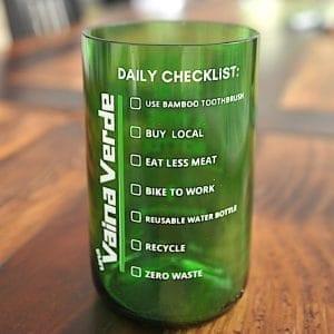 Una Vaina Verde - Vaso de Botella de Vino2