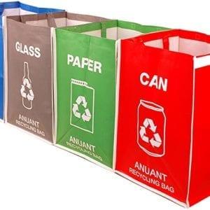 Una Vaina Verde Bolsas de Reciclaje (Set)